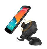 Автомобильный держатель с функцией беcпроводной зарядки Onetto Charging Car&Desk Mount Easy Flex Wireless для телефонов черный (EWS-300)
