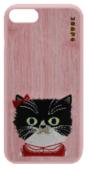 Силиконовый чехол ONUSK Cattitude для iPhone 8 / iPhone 7 розовый