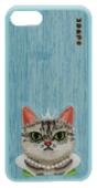 Силиконовый чехол ONUSK Cattitude для iPhone 8 / iPhone 7 голубой