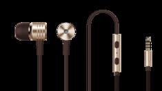Наушники с регулировкой громкости 1MORE Piston Classic In-Ear Headphones золотые (E1003)