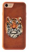 Пластиковый чехол с вышитым рисунком Santa Barbara Flower Animals Series для iPhone 8 / iPhone 7 коричневый