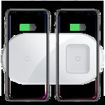 Беспроводное зарядное устройство Baseus Simple 2 in 1 Wireless Charger BS-W508 15W белое (WXJK)