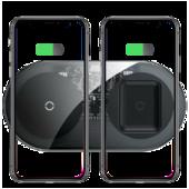 Беспроводное зарядное устройство Baseus Simple 2 in 1 Wireless Charger BS-W508 15W прозрачное (WXJK)
