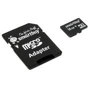 Карта памяти Smartbuy microSDHC 16GB Class 10 с адаптером