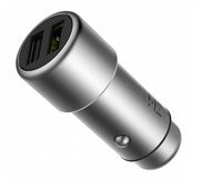 Металлическая автозарядка Xiaomi ZMI Metal Car Charger 2 USB 3.6A Output (Quick Charge 3.0) для iPad / iPhone / iPod / Android серебристая (AP821)