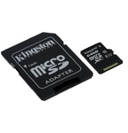Карта памяти Kingston microSDHC 64GB Class 10 с адаптером