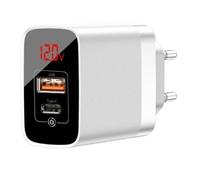Сетевое зарядное устройство Baseus Mirror Lake BS-E911 18W, QC 3.0, PD 3.0, USB, Type-C белое