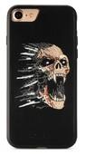 Пластиковый чехол с вышитым рисунком Santa Barbara Flower Skulls Series для iPhone 8 / iPhone 7 черный вид 2
