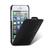 Чехол Melkco для iPhone SE / iPhone 5S / iPhone 5 Leather Case Jacka Type крокодил черный