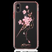 Пластиковый чехол со стразами Swarovski Kingxbar Exquisite Series для iPhone X розовое золото