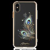 Пластиковый чехол со стразами Swarovski Kingxbar Exquisite Series для iPhone X золотой