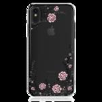 Пластиковый чехол со стразами Swarovski Kingxbar Flora Series для iPhone X черный