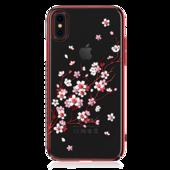 Пластиковый чехол со стразами Swarovski Kingxbar Phoenix Series для iPhone X красный
