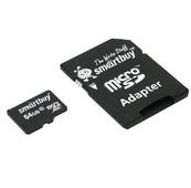 Карта памяти Smartbuy microSDXC 64GB Class 10 с адаптером