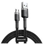 Кабель Baseus Cafule Cable Micro USB 2.4A 50 см серый (CAMKLF)