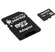 Карта памяти Smartbuy microSDHC 8GB Class 10 с адаптером