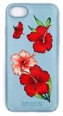 Пластиковый чехол с вышитым рисунком Santa Barbara Flowers Series для iPhone 8 / iPhone 7 голубой