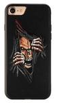 Пластиковый чехол с вышитым рисунком Santa Barbara Flower Skulls Series для iPhone 8 / iPhone 7 черный вид 1