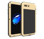 Противоударный металлический чехол LunaTik TakTik Strike для iPhone 8 / iPhone 7 золотистый