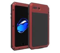 Противоударный металлический чехол LunaTik TakTik Strike для iPhone 8 / iPhone 7 красный