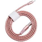 Кабель в кожаной оплетке Momax MFI Elite Link Pro Lightning to USB 1 метр для iPad / iPhone / iPod розовый (DL2)