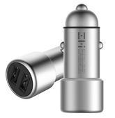 Автомобильное зарядное устройство Xiaomi ZMI Metal Car Charger 2 USB 3.6A QC 3.0 серебристое (AP821)