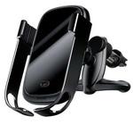 Автомобильный держатель с беспроводной зарядкой Baseus Rock-Solid Vehicle Mounted Holder Wireless Charger 10W черный (WXHW01-0S)