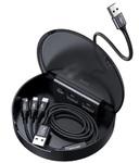 Станция для зарядки Baseus 3in1 Car Sharing Station 2 USB, Lightning, Type-C, Micro USB черная (CAHUB)