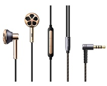 Наушники с регулировкой громкости 1MORE E1008 Dual Driver In-Ear Headphones золотые