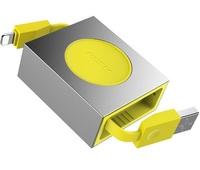 Кабель Rock Retractable Charge & Sync Cable Lightning to USB 80 см для iPad / iPhone / iPod желтый (RCB0547)