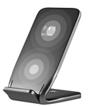 Беспроводное зарядное устройство Rock W3 Pro Fast Wireless Charging Stand серое (DT-618)