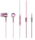 Наушники с регулировкой громкости 1MORE EO301 Crystal Piston In-Ear Headphones розовые